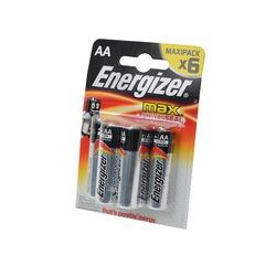 Батарейка бытовая стандартных типоразмеров Energizer MAX+Power Seal LR6 BL6