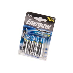 Батарейка бытовая стандартных типоразмеров Energizer Maximum+Power Boost LR6 BL4