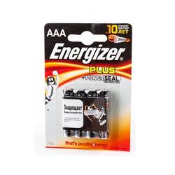 Батарейка бытовая стандартных типоразмеров Energizer Plus+Power Seal LR03 BL4
