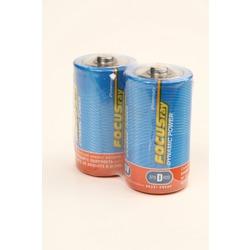 Батарейка бытовая стандартных типоразмеров FOCUSray Dynamic Power R20 SR2, в упак 12 шт