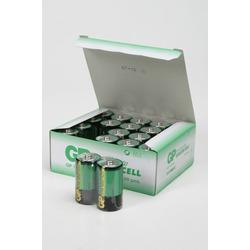Батарейка бытовая стандартных типоразмеров GP Greencell 13G/R20 SR2, в упак 20 шт