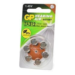 Батарейка воздушно-цинковая GP Hearing Aid ZA312F-D6 ZA312 BL6