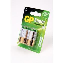 Батарейка бытовая стандартных типоразмеров GP Super 14А-CR2 LR14 BL2