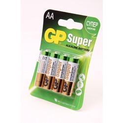 Батарейка бытовая стандартных типоразмеров GP Super 15A-CR4 LR6 BL4