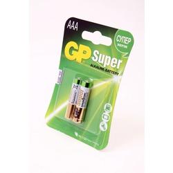 Батарейка бытовая стандартных типоразмеров GP Super 24A-CR2 LR03 BL2