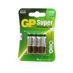 Батарейка бытовая стандартных типоразмеров GP Super 24A-CR4 LR03 BL4