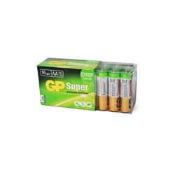 Батарейка бытовая стандартных типоразмеров GP Super GP15A-2CRB16 LR6 в коробке 16 шт