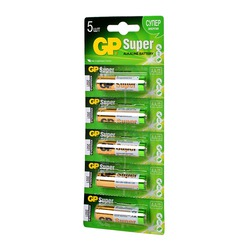 Батарейка бытовая стандартных типоразмеров GP Super GP15A-CR5 LR6 BL5