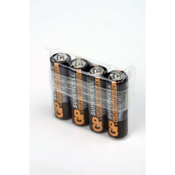 Батарейка бытовая стандартных типоразмеров GP Supercell 15S/R6 SR4, в упак 40 шт