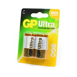 Батарейка бытовая стандартных типоразмеров GP Ultra GP14AU-2UE2 LR14 BL2