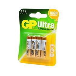Батарейка бытовая стандартных типоразмеров GP Ultra GP24AU-2UE4 LR03 BL4