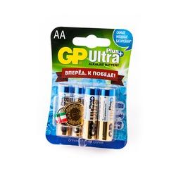 Батарейка бытовая стандартных типоразмеров GP Ultra Plus 15AUPGR-2CR6 LR6 + брелок Медаль BL6
