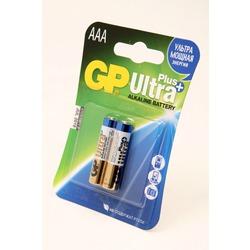 Батарейка бытовая стандартных типоразмеров GP Ultra Plus 24AUP-2CR2 LR03 BL2