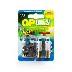 Батарейка бытовая стандартных типоразмеров GP Ultra Plus 24AUPTD2-2CR6 LR03 + брелок Как приручить Дракона-2 BL6