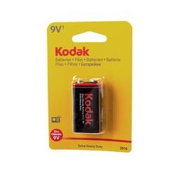 Батарейка бытовая стандартных типоразмеров Kodak Extra Heavy Duty 6F22 BL1