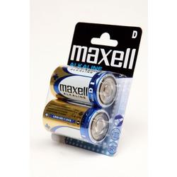 Батарейка бытовая стандартных типоразмеров MAXELL Alkaline LR20 BL2
