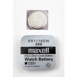 Батарейка серебряно-цинковая часовая MAXELL SR1116SW 366