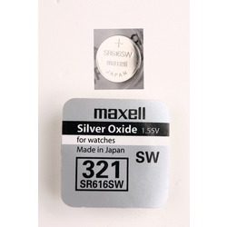 Батарейка серебряно-цинковая часовая MAXELL SR616SW 321