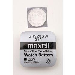 Батарейка серебряно-цинковая часовая MAXELL SR920SW 371, в упак 10 шт