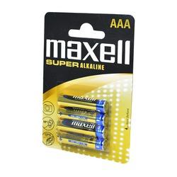 Батарейка бытовая стандартных типоразмеров MAXELL Super Alkaline LR03 BL4
