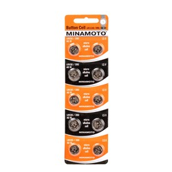 Батарейка алкалиновая часовая MINAMOTO Button Cell AG10 BL10
