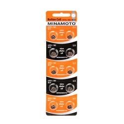 Батарейка алкалиновая часовая MINAMOTO Button Cell AG11 BL10