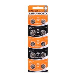Батарейка алкалиновая часовая MINAMOTO Button Cell AG13 BL10
