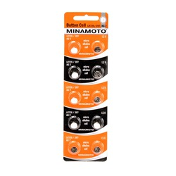Батарейка алкалиновая часовая MINAMOTO Button Cell AG2 BL10