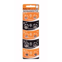 Батарейка алкалиновая часовая MINAMOTO Button Cell AG3 BL10