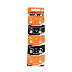 Батарейка алкалиновая часовая MINAMOTO Button Cell AG5 BL10