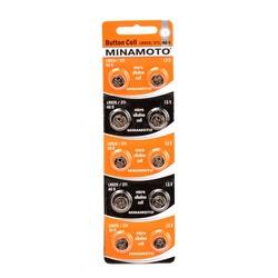 Батарейка алкалиновая часовая MINAMOTO Button Cell AG6 BL10