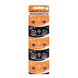 Батарейка алкалиновая часовая MINAMOTO Button Cell AG7 BL10