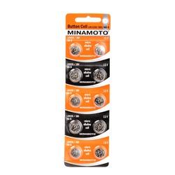 Батарейка алкалиновая часовая MINAMOTO Button Cell AG8 BL10