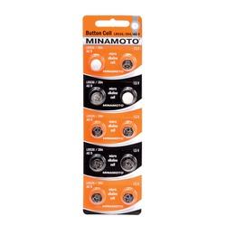 Батарейка алкалиновая часовая MINAMOTO Button Cell AG9 BL10