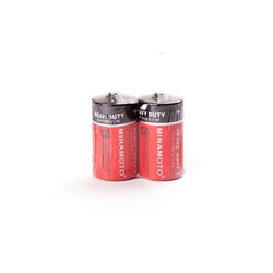 Батарейка бытовая стандартных типоразмеров MINAMOTO Heavy Duty R20 SR2, в упак 24 шт