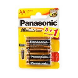 Батарейка бытовая стандартных типоразмеров Panasonic Alkaline Power LR6APB/4BP 3+1F RU LR6 3+1шт BL4