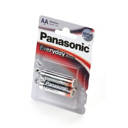 Батарейка бытовая стандартных типоразмеров Panasonic Everyday Power LR6EPS/2BP LR6 BL2