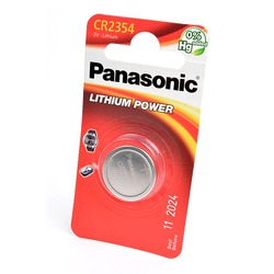 Батарейка дисковая литиевая Panasonic Lithium Power CR-2354EL/1B CR2354 BL1
