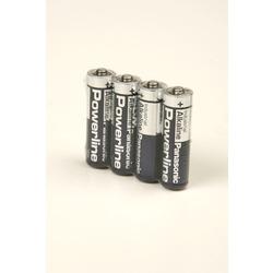 Батарейка бытовая стандартных типоразмеров Panasonic Powerline Industrial LR6 SR4, в упак 48 шт