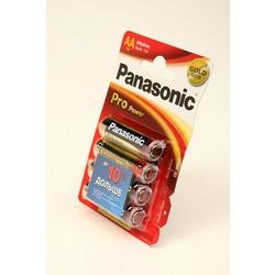 Батарейка бытовая стандартных типоразмеров Panasonic Pro Power LR6PPG/4BP LR6 BL4