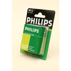 Батарейка бытовая стандартных типоразмеров PHILIPS LONGLIFE 3R12 BL1
