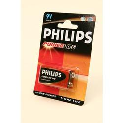 Батарейка бытовая стандартных типоразмеров PHILIPS POWERLIFE 6LR61 BL1