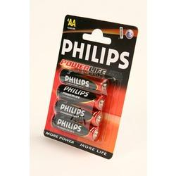 Батарейка бытовая стандартных типоразмеров PHILIPS POWERLIFE LR6 BL4
