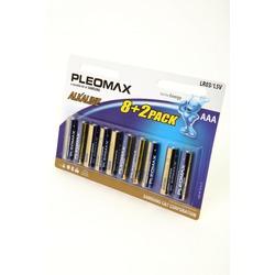 Батарейка бытовая стандартных типоразмеров PLEOMAX samsung LR03-8+2 BL10