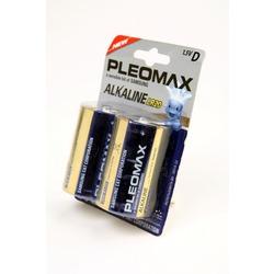 Батарейка бытовая стандартных типоразмеров PLEOMAX samsung LR20 BL2