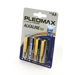 Батарейка бытовая стандартных типоразмеров PLEOMAX samsung LR6-BL4
