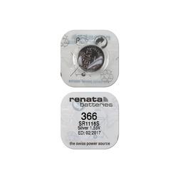 Батарейка серебряно-цинковая часовая RENATA SR1116S 366, в упак 10 шт