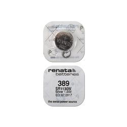 Батарейка серебряно-цинковая часовая RENATA SR1130W 389, в упак 10 шт