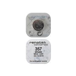 Батарейка серебряно-цинковая часовая RENATA SR44W 357, в упак 10 шт