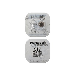 Батарейка серебряно-цинковая часовая RENATA SR516SW 317, в упак 10 шт